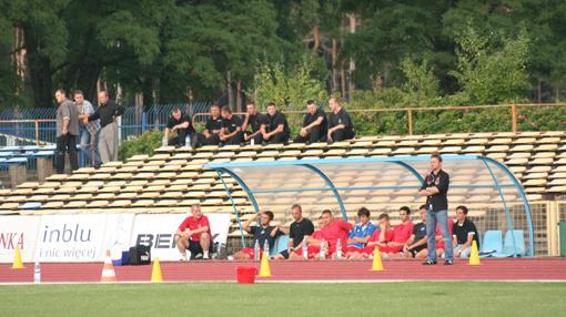 piotr maćkowiak w roli kierownika pierwszej drużyny - mecz debiutancki
